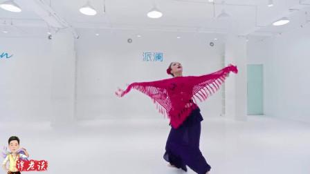 弗朗明哥融合风,巧妙借助了围巾这个道具,让东方舞的风情魅力增加了更柔情的观赏性