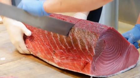 顶级食材蓝鳍金枪鱼,这一块大腹更是其中精髓