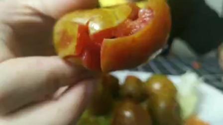 椒盐李果 广西特色美食,童年的记忆