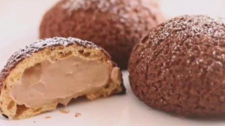 巧克力泡芙的做法!