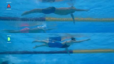 中游体育:自由泳前滚翻转身的两种不同技术
