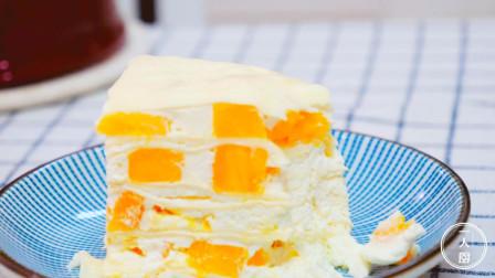 手把手教你做芒果千层蛋糕,方法简单,3分钟学会,比买的更好吃