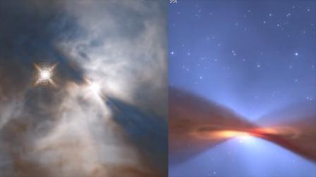 """哈勃望远镜拍下宇宙""""蝙蝠扇翅"""",来自1400光年外的恒星"""