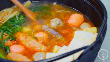 """教你做一道""""酸辣番茄锅""""非常适合天冷的时候吃,开胃又暖身"""