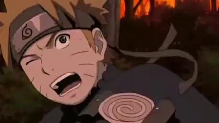 火影忍者:鸣人对卡卡西释放千年杀,幸好偏了!不然卡卡西大菊不保