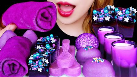 生活漫话 浪漫情调的紫色,在美食界流行成风,高颜值又有创意