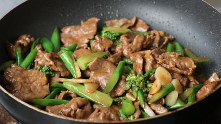 让人垂涎三尺的老广名菜,芥兰炒牛肉,老一辈学的才正宗