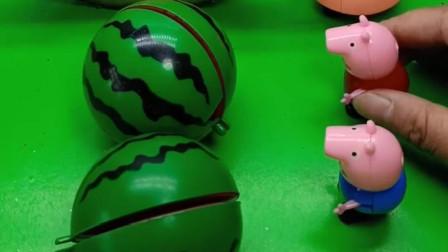 猪爷爷种了很多西瓜,他要分给小猪一家,这个西瓜好奇怪啊