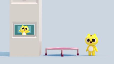 迷你特工队:麦克斯在蹦床上玩,太好玩了!(1)