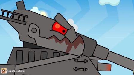 坦克世界:小坦克迅速向后一退躲过了飞来的子弹