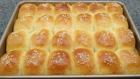 1碗面粉加2个鸡蛋,自己在家也能做面包,暄软香甜又拉丝,真好吃
