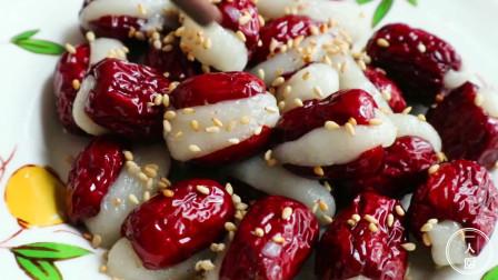 糯米红枣的家常做法,营养丰富,做法简单,大人小孩都爱吃