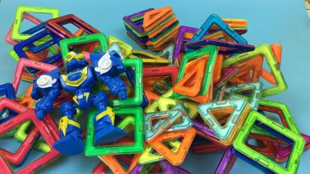 斗龙战士分享磁力片积木玩具