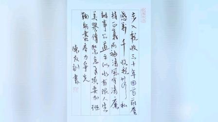湖南郴州陈友训2020年6月底创作的行书书法作品五