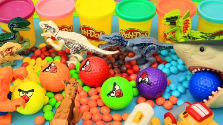 彩虹糖里的彩球变成了恐龙