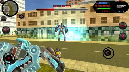 鲨鱼机器人:鲨鱼机器人打败机器人boss躲在房顶上会被秒杀吗