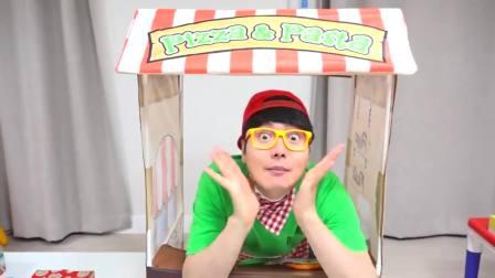 国外儿童时尚!小萝莉和哥哥的卖披萨比赛!看起来还不错