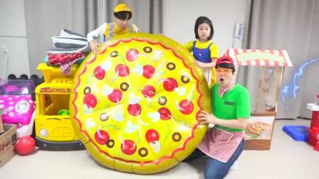 国外儿童时尚!小萝莉和哥哥的卖披萨比赛!一起来看看吧!
