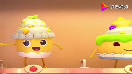 宝宝巴士美食总动员:售货机里的杯子蛋糕很好吃,奇奇很喜欢!