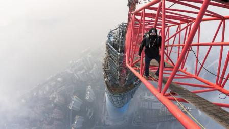 老外徒手攀爬上海中心大厦,途中危险不断!网友:看的心惊胆战
