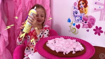 国外少儿时尚,小萝莉给爸爸做蛋糕庆祝爸爸生日,一起来看看吧!