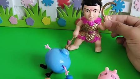 小猪一家遇到危险了,哪吒要把他们恢复原样,大家快来帮忙啊