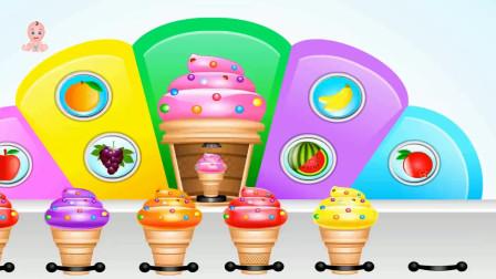 彩色新鲜水果制作冰淇淋玩具
