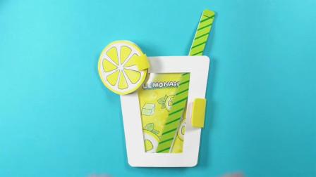 创意纸艺手工教程——用卡纸做柠檬汁便笺本