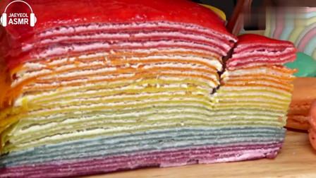 吃播,马卡龙,彩虹蛋糕,果冻,棉花糖等,咀嚼声音减压又助眠