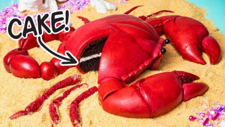 """看上去是""""巨无霸""""螃蟹,其实是翻糖蛋糕,网友:学会了吗?"""