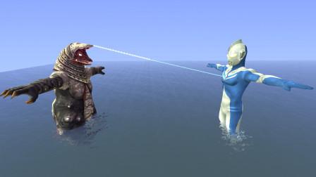 gmod:奥特曼和怪兽极光比拼谁会胜利啊?