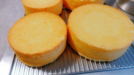 蛋糕店是如何批量生产《戚风蛋糕》的!配方在简介!
