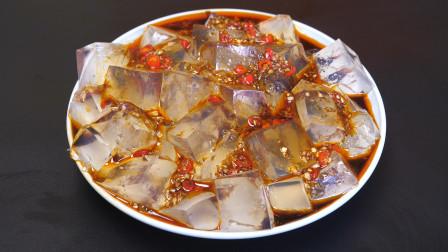 """鱼鳞以后别扔掉了,放锅里煮一煮,就能做成""""果冻"""",爽滑又好吃"""