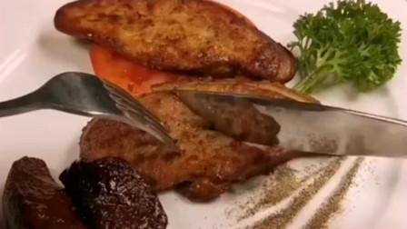 香煎鹅肝,法式大餐广东大厨教你这样做。好吃有颜值,招待客人太有面子了!
