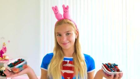国外少儿时尚,小萝莉DIY制作美味冰淇淋,真有趣啊