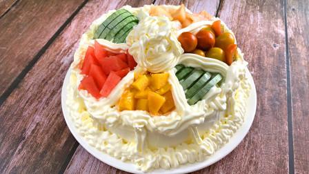 生日蛋糕在家也能做啦!蓬松暄软甜而不腻,孩子生日到了,送给孩子独一无二的礼物