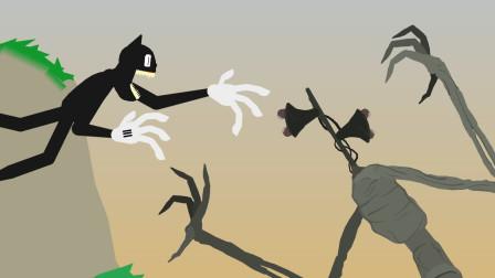 MC动画:卡通猫和汽笛人的战斗!