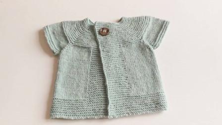 「毛线编织」可爱的宝宝短袖毛衫!