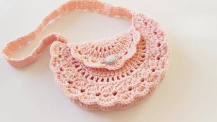 「钩针编织」漂亮的女士斜挎包!