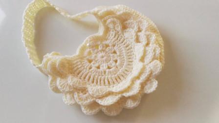 「钩针编织」漂亮的花边斜挎包!图解视频