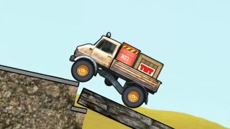 工程车施工游戏 卡车运货遇挡路台阶怎么办?