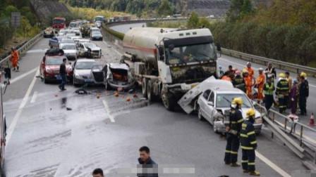 拿命变道!广东轿车司机错过高速路口,货车面变道3次,监控拍下作全程