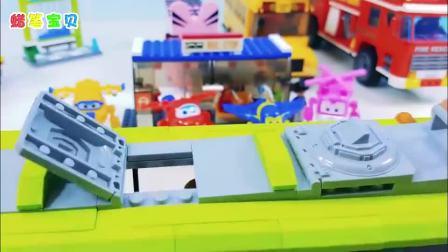 大型消防车、大客车、升降车玩具 超级飞侠总动员