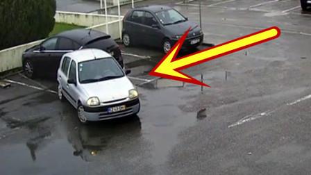 这女司机倒车技术,必须给赞,太机智了!