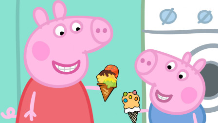 小猪佩奇和乔治吃完冰淇淋又喝了冰镇饮料,结果生病去医院了!
