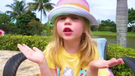 国外儿童时尚,萌宝小萝莉的巧克力饼干要分给爸爸一起吃,真乖