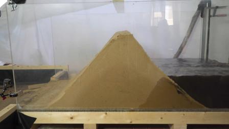 大坝为什么要泄洪?用沙子模拟大坝不放水,看沙子反应就知道