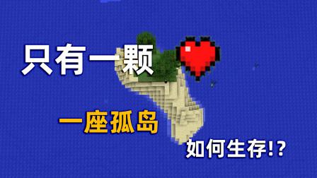 我的世界:开局只有一颗心,如何在孤岛生存下去