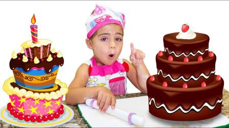 超厉害,萌娃小萝莉怎么做出小蛋糕?可是小正太和姐姐喜欢吃吗?儿童亲子益智趣味游戏玩具故事