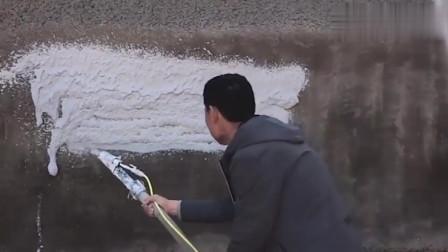 了不起的中国制造,看农民工大爷发明的抹灰喷